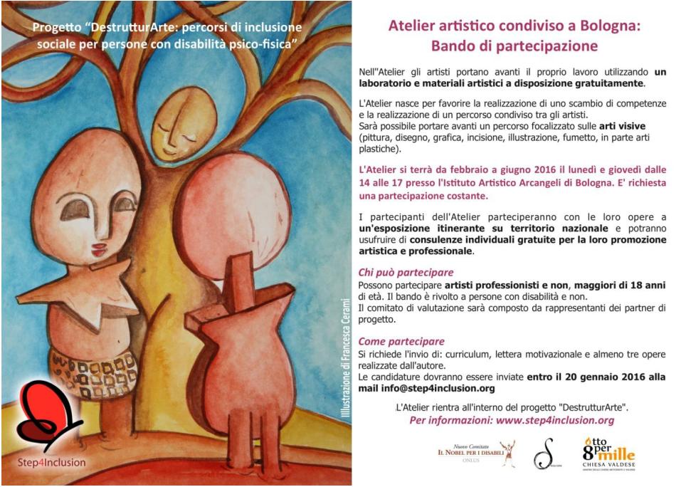 Atelier artistico condiviso a Bologna: bando di partecipazione