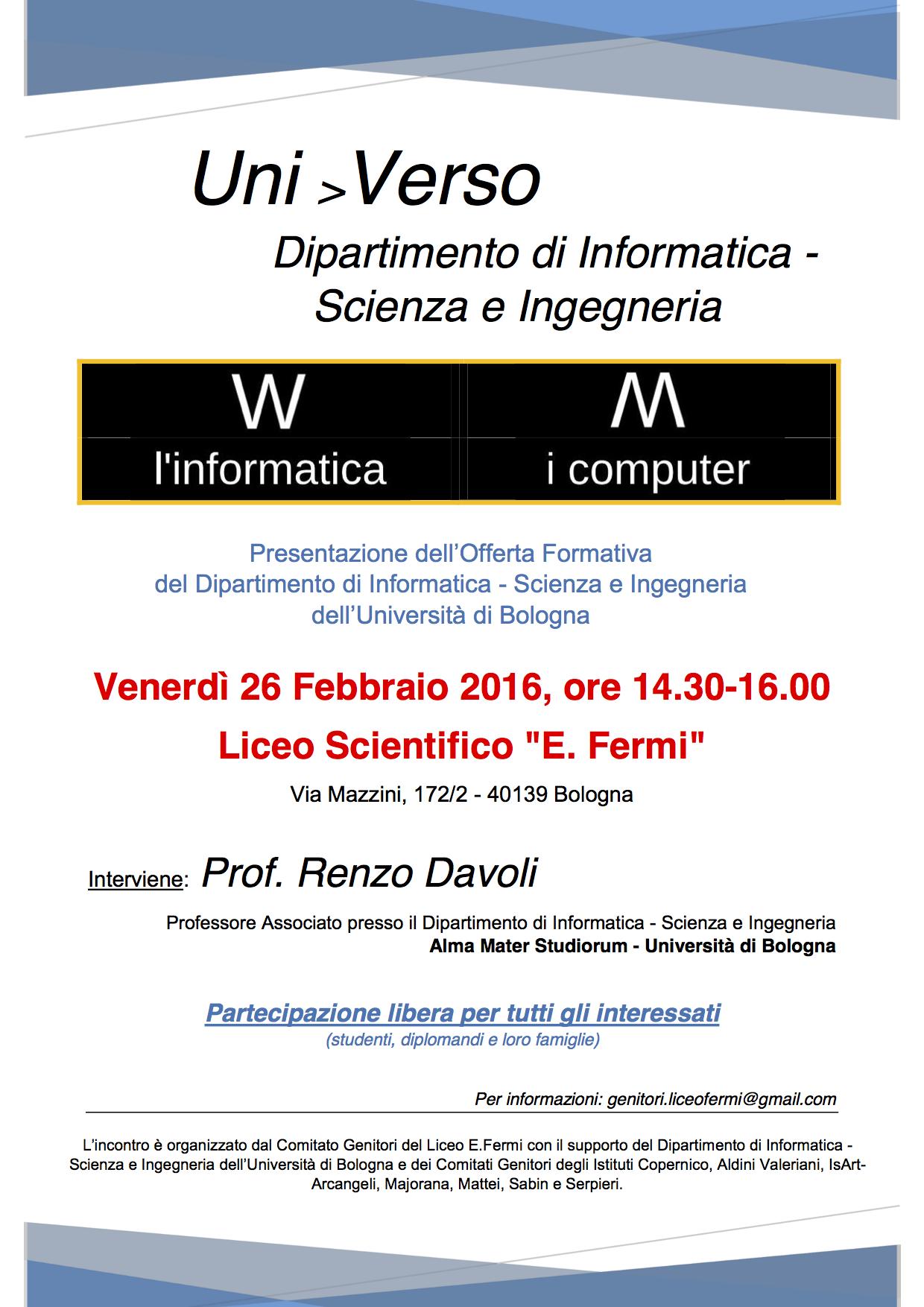 Uni>Verso: Viva l' informatica, abbasso i computer